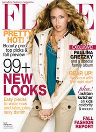 paulina gretzky u0027s february flare magazine 2013