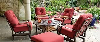 Cushioned Patio Chairs Woodard Cortland Cushion Aluminum Patio Furniture