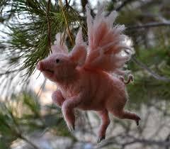felted pigasus tree ornament