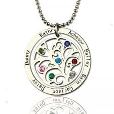Children S Name Necklace Family Tree Jewelry Sheown