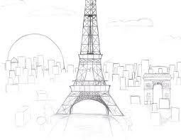 eiffel tower at sunset sketch by mochi8910 on deviantart