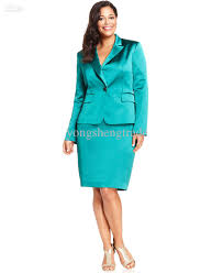 plus size satin evening jacket u0026 pencil skirt emerald women suit