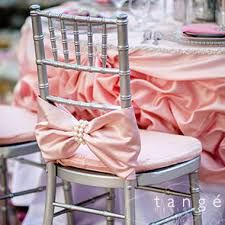 and groom chair covers pink bow with large pearl wrap chiavari chair covers for the