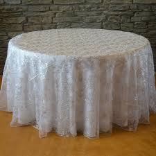 wholesale wedding chair covers 120 sequins floral tablecloth designer table linens