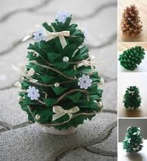 wonderful diy mini pine cone tree