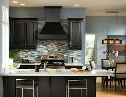 Dark Kitchen Cabinets With Light Granite Espresso Cabinets With A Fun Subway Tile Backsplashbacksplash