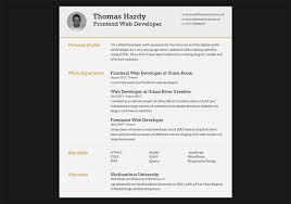 Front End Developer Sample Resume by 28 Free Cv Resume Templates Html Psd U0026 Indesign Web