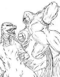 king kong dinosaurs fought coloring pages coloring