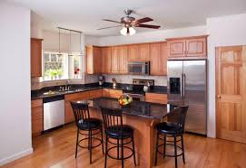 Eat In Kitchen Island Decorating Modern Ceiling Fan On White Ceiling For Traditional