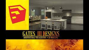 sketchup interior kitchen design tutorial matte white youtube