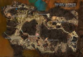 Gw2 World Map by Guild Wars 2 The Silverwastes Explorer Achievement Guide