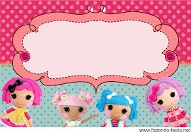 Birthday Invite Cards Free Printable Lalaloopsy Free Printable Invitation Card Bunting Or Candy Bar