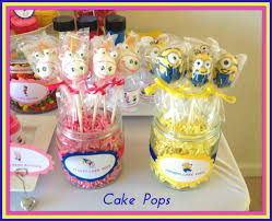 minions baby shower despicable me baby shower cake pops hannele är bäst