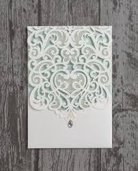 pocketfold wedding invitations 20 x luxury diamante lace laser cut pocketfold personalised