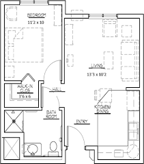 Studio And 1 Bedroom Apartments by 20x30 Single Story Floor Plan One Bedroom Small House Plan Move