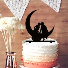 Wedding Decor Resale Wedding Cake Topper Silhouette Romantic Bride And Groom Kiss Sit