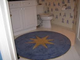 Round Bathroom Rugs Blue Round Bathroom Rug Home Interiors