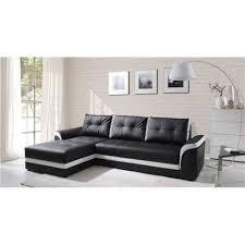 canape d angle noir canapé d angle convertible dumno noir et blanc angle gauche achat