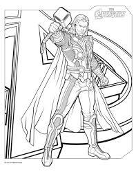 Avengers thor  Coloriage de Thor  Coloriages pour enfants