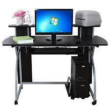 bureau informatique 120 cm songmics bureau informatique tablette clavier coulissante meuble de