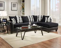 rent to own sectional buddy s home furnishings delta 4174 10sec lsf sofa rsf chaise dempsey black implosion black geo jack black and white