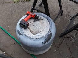 Making Fire Pit From Washer Tub - a different fire pit from a washing machine drum 5 steps with