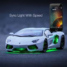lamborghini aventador headlights in the dark 6pc car interior neon underglow accent light kit campatible with