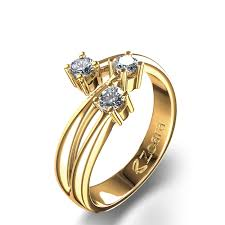 3 diamond rings 3 4 ctw diamond ring in 14k yellow gold