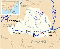 rivers in china map wei river