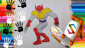 x men wolverine coloring page x men coloring pages new youtube
