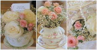 wedding flowers manchester vintage flowers with vintage china tea cups and plates