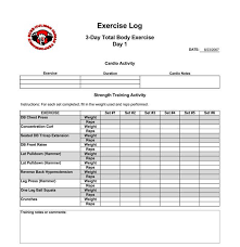 daily exercise and running log templates download in excel and pdf