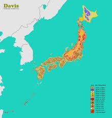Planting Zone Map Japan Hardiness Map Landscape Architect U0027s Pages