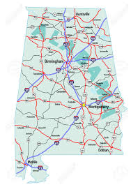 Map Note Alabama State Road Map With Interstates And U S Highways Please