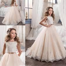 Flower Girls Dress Shoes - cheap 2017 blush pink lace flower girls dresses jewel neck