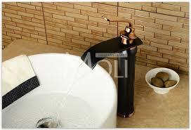 Vessel Sink Faucets Oil Rubbed Bronze Aliexpress Com Buy Waterfall Basin Faucet Bathroom Vessel Sink
