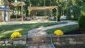 bocce court new creation landscaping