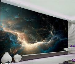 online shop customize size abstract gray blue color change wall