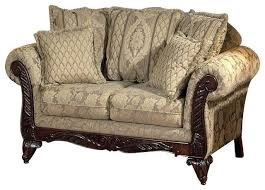 Victorian Loveseats Victorian Loveseat Settee Upholstered Beige Caramel Paisley French