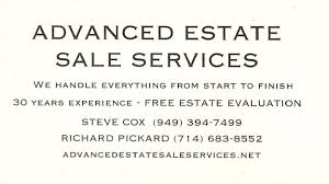 Sales Business Card Estate Sales Archives Business Card Listings