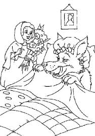 little red riding hood do not know her grandma is fake coloring