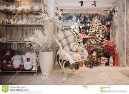 winter home decor christmas rustic interior stock photo image