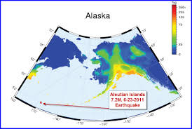 Aleutian Islands Map Alaska Earthquake Hazards Map Chaos Sweeps Away The World We