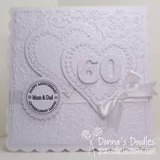 luxury wedding 60th anniversary card personalised