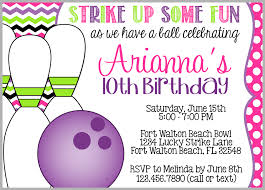 free printable bowling birthday invitations collection 55