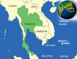map of thailand map of thailand terrain area and outline maps of thailand