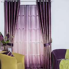 Blackout Purple Curtains Thick Gradient Purple Polyester Jacquard Blackout Curtains