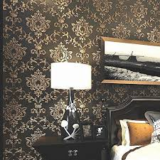 Gold And Black Bedroom by Gold And Black Wallpaper Amazon Com