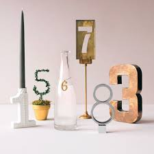 brass table number holders unique table numbers martha stewart weddings