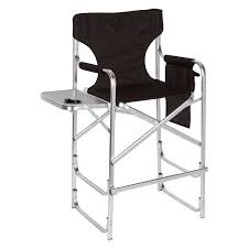 Tall Director Chairs Professional Tall Lightweight Folding Directors Chair With Side